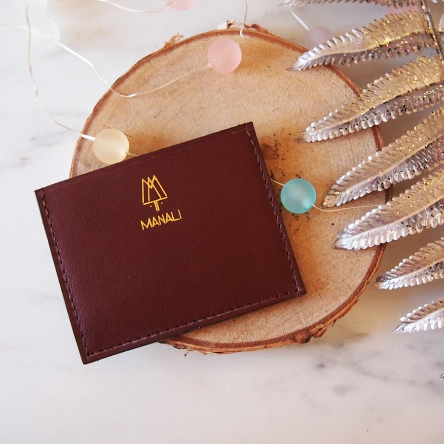 Porte cartes marron