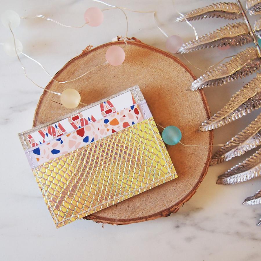 Porte cartes lilla